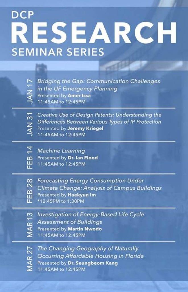 2020 DCP Research Seminar Series