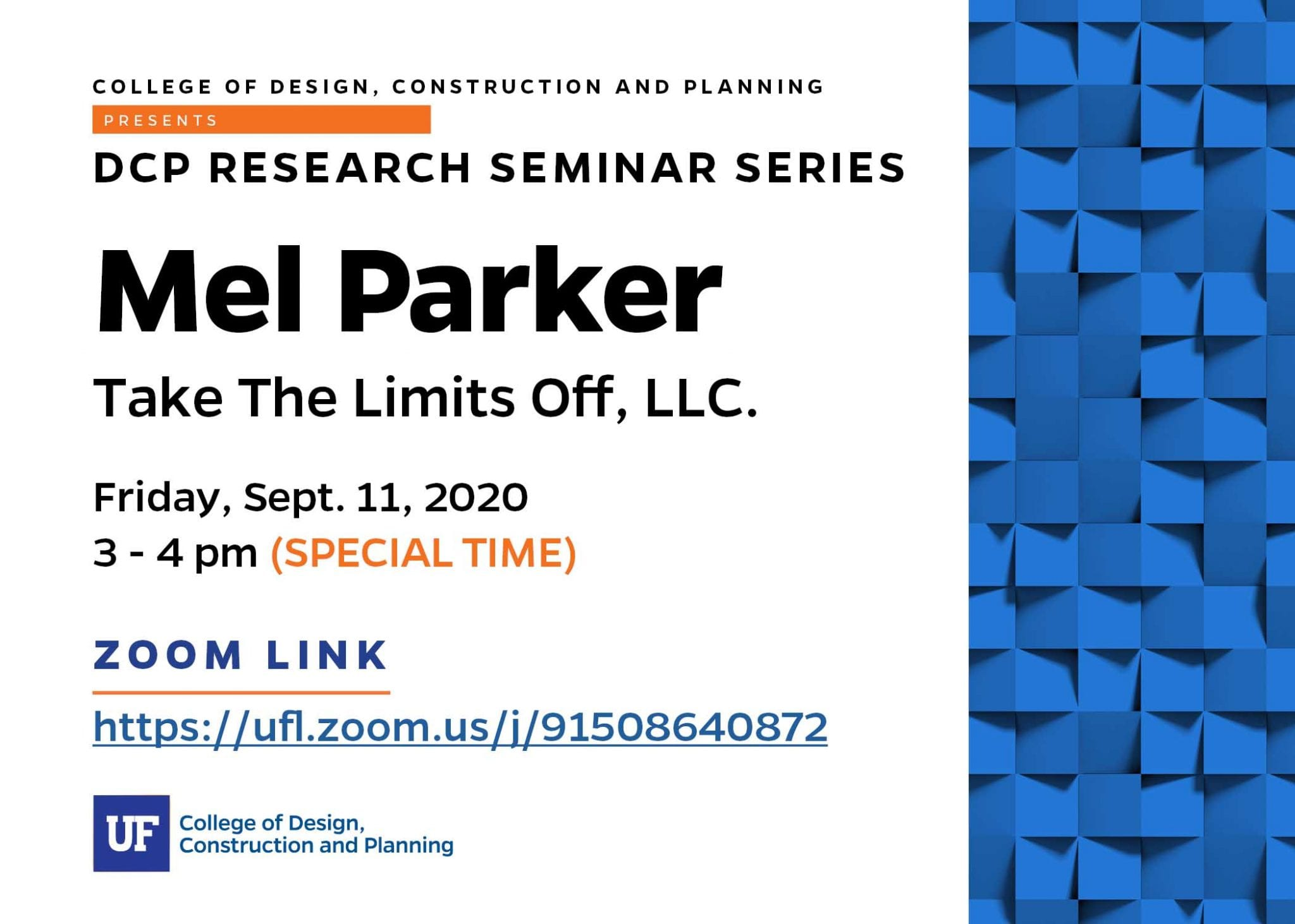 Fall 2020 Research Seminar Series – Mel Parker