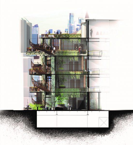 Alejandro Munoz OCAD Building Section scaled